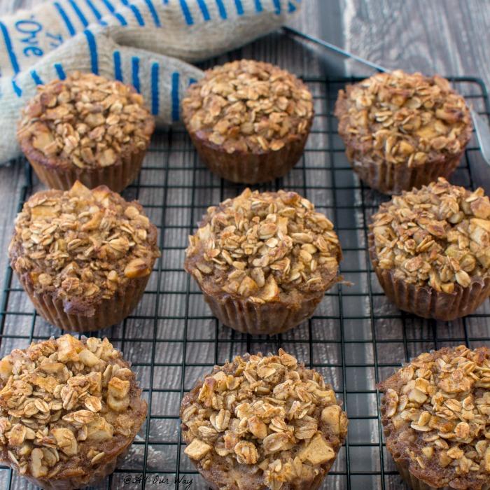 Apple Cinnamon Breakfast Oatmeal Muffins