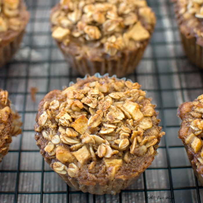 Nutritious Cinnamon Apple Breakfast Oatmeal Muffins @allourway.com