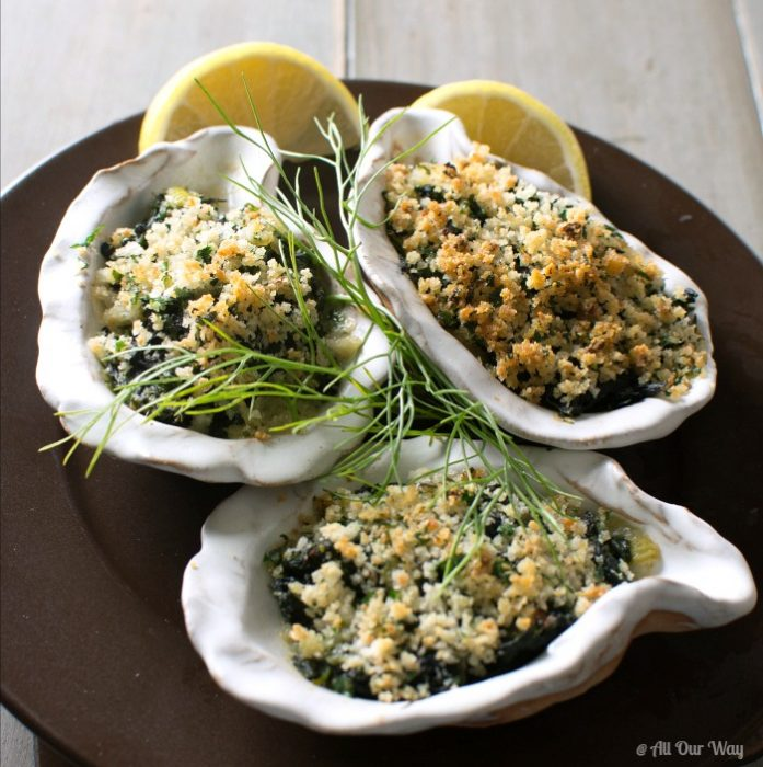Oysters Rockefeller Italian Style an Easy and Elegant Appetizer @allourway.com