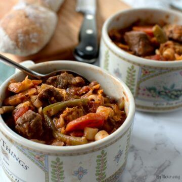 Rustic Italian Vegetable Beef Stew comfort food any time of year @allourway.com