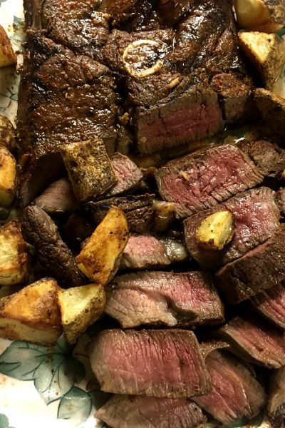Venison Steak grilled and marinated and grilled with potatoes @allourway.com