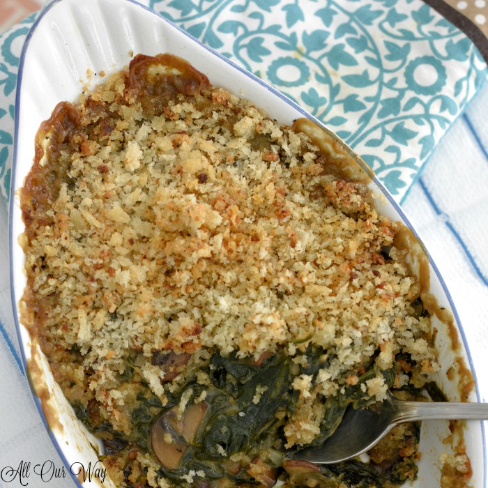 The Best Baked Spinach Gratin is a streamlined Julia Child recipe that saves lots of time and effort yet is still delicious.
