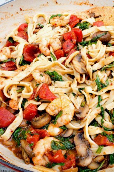 Shrimp Stir Fry Italian Style-Appetizing One Pan Meal