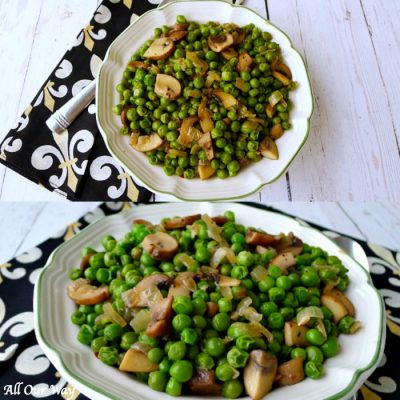 Italian Peas with Mushrooms | A Special Family Easter Tradition
