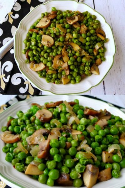 Italian Peas with Mushrooms   A Special Family Easter Tradition