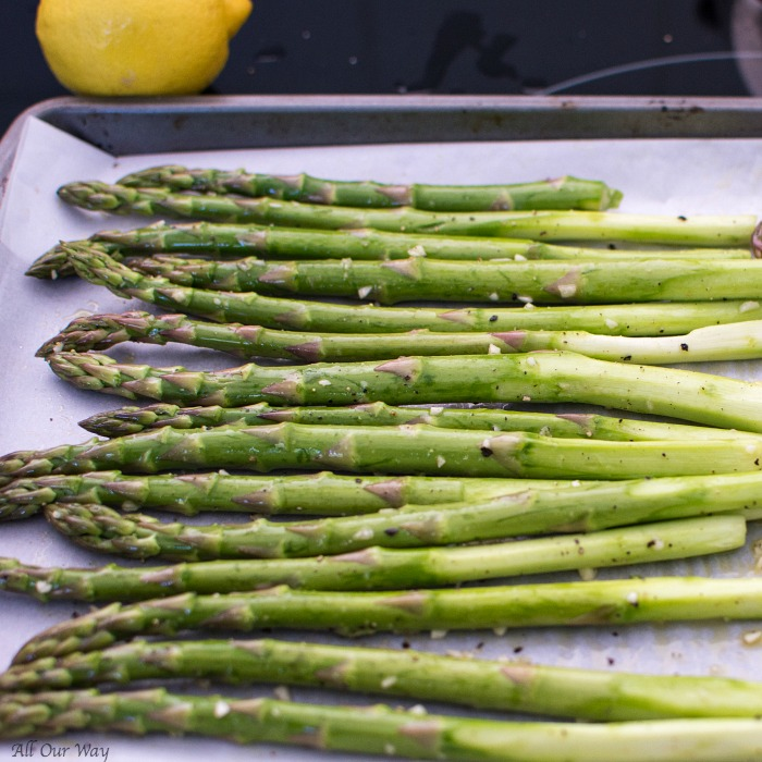 Lemon Garlic Asparagus with Parmesan an Easy Roasted Side