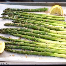 Roasted Lemon Garlic Asparagus with Parmesan is a quick and easy meal that captures the freshness of spring.
