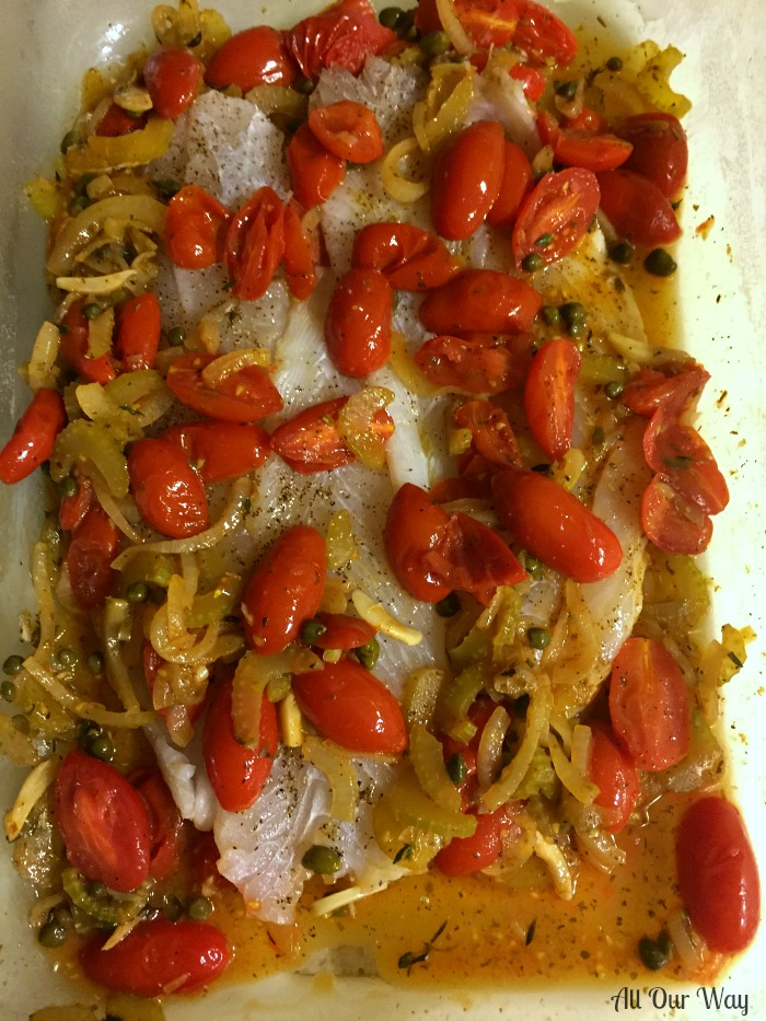 Baked Flounder Italian Style with Fresh Cherry Tomato Herb ...