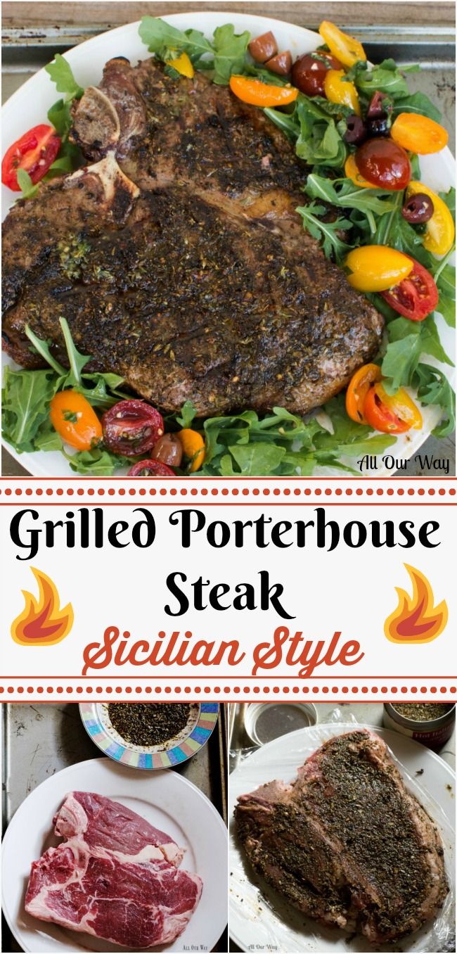 Grilled Porterhouse Steak Sicilian Style with Marinated Cherry ...