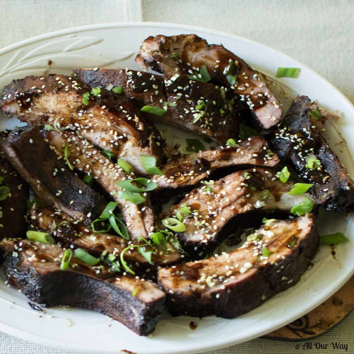 Asian barbecued ribs are deliciously sweet, salty, sticky and smokey. They are easy to make and can be grilled or baked.