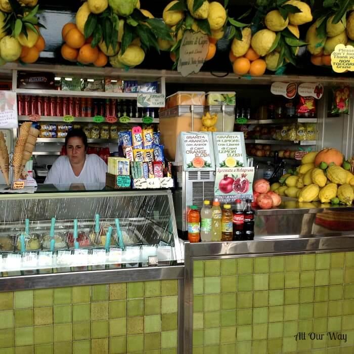 One Pan Orange Lemon Shrimp is inspired by the beautiful citrus on the Isle of Capri.