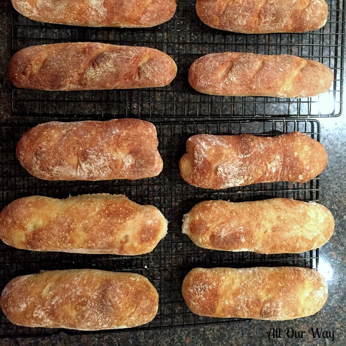 Crusty French Baguettes a 4-hour recipe can also be made into rolls. No starter is necessary.