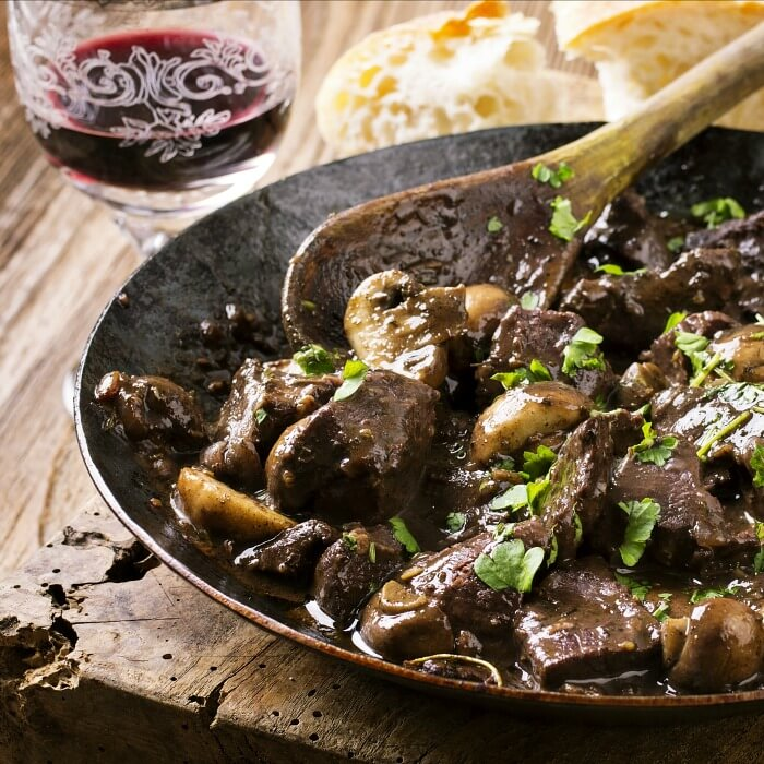 Italian Venison stew uses the method as the French do with Beef Bourguignon.