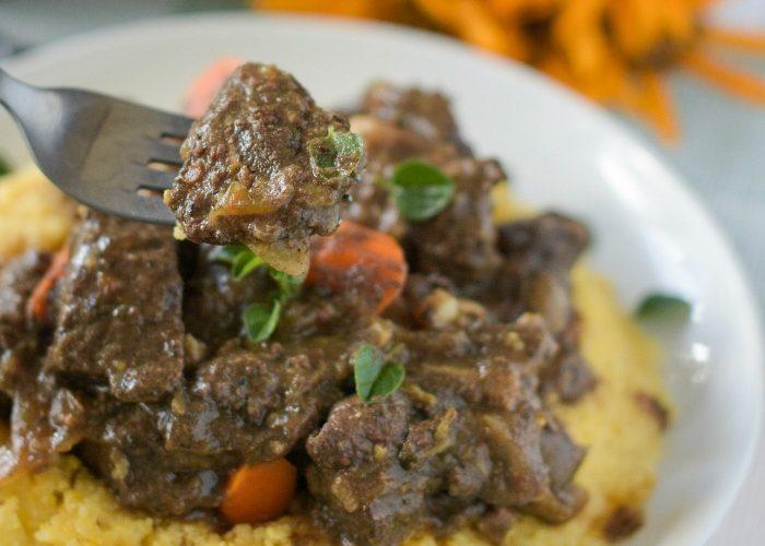 Italian Venison Stew with Polenta – Capriolo alla Montanara con Polenta