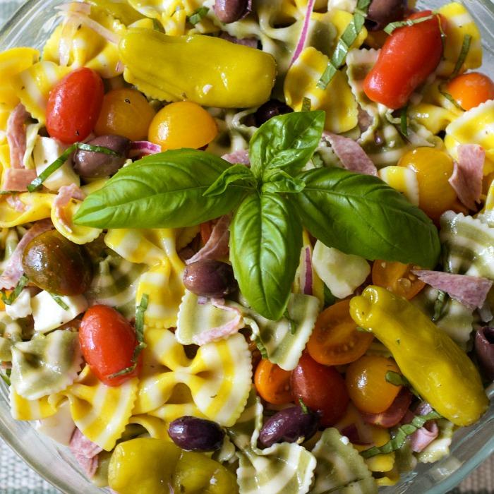 Lemon Basil Farfalle Salad an Italian pasta Salad celebrating summer.
