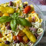 Lemon Basil Farfalle Salad an Italian Pasta Salad celebrating summer tastes.