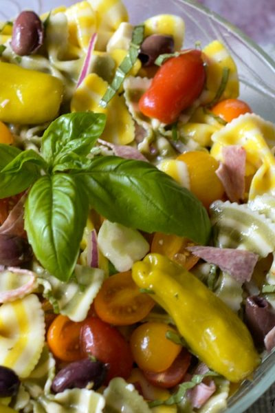 Lemon Basil Farfalle Salad An Italian Pasta Dish Celebrating Summer