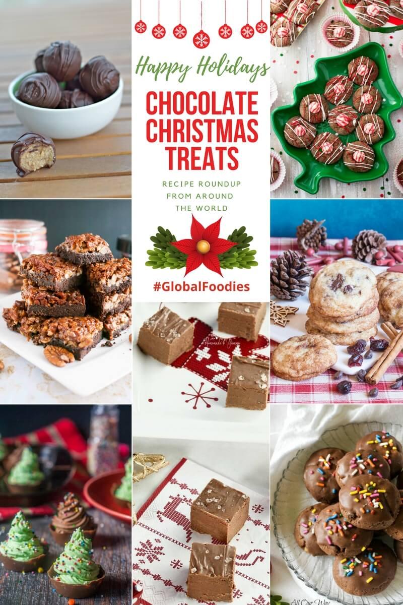 Chocolate Treats Roundup. Chocolate goodies from around the world. #Chocolate_desserts, #Chocolate_treats, #Christmas_desserts