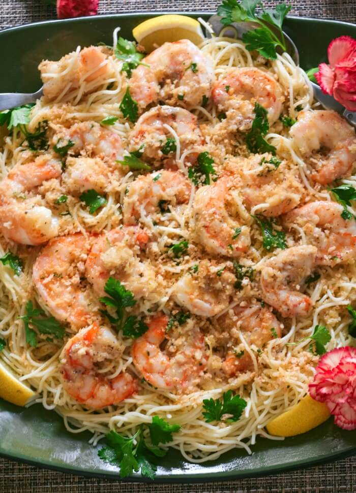 Easy Shrimp Scampi A Classic Italian American Recipe Over Pasta