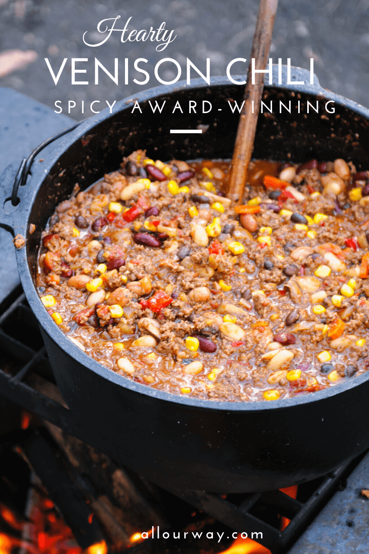 A hearty stew made up of ground venison meat and sausage with a delightful combination of herbs and spices. The meat is slow cooked and full of flavor. The balance and flavors are mouth watering good and you can control the heat of the stew.#venisonchili, #heartychili, #bestchili, #awardwinningchili, #blueribbonchili, #deerrecipe, #venisonrecipe