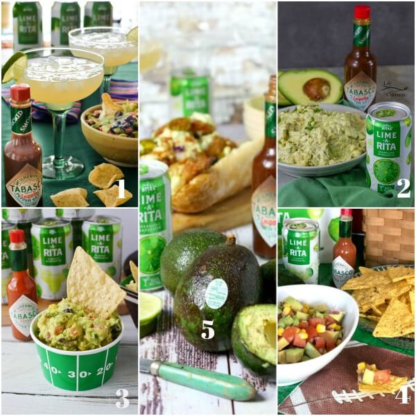 Collage of guacamole recipes