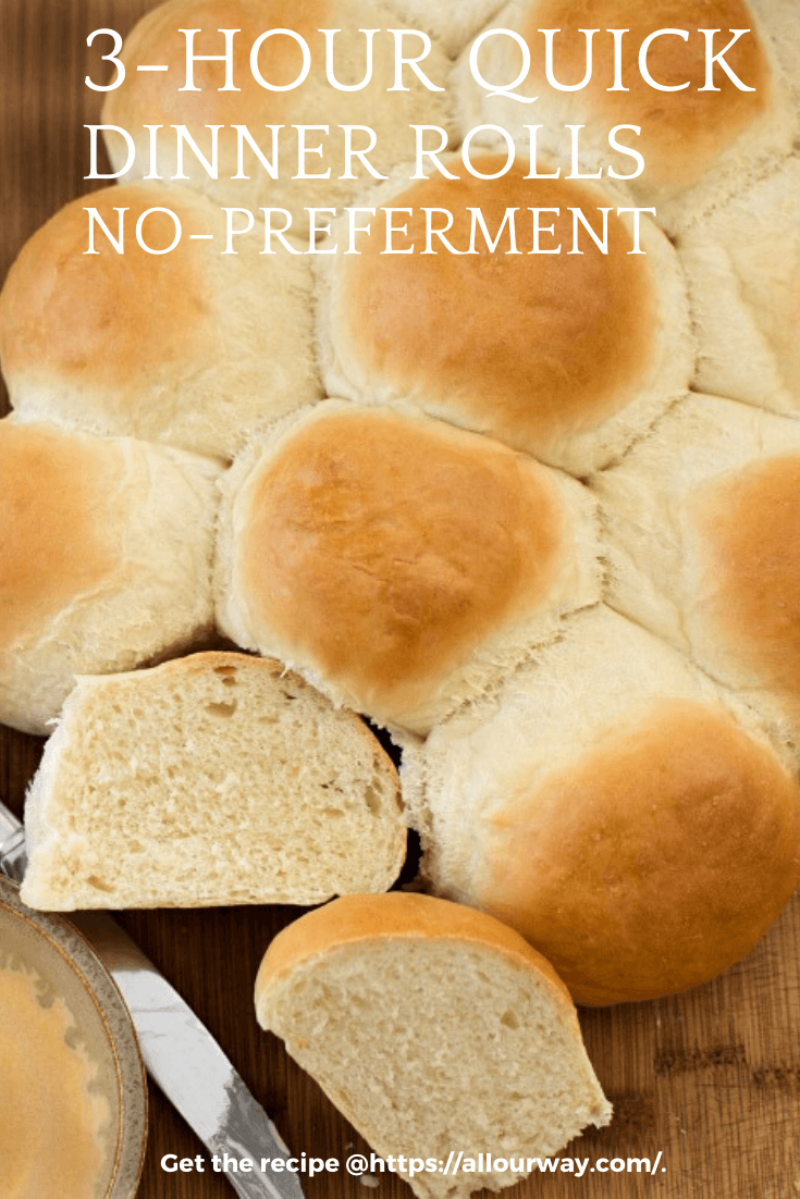 Yeast dinner rolls that are easy and quick to make. The finished rolls are feathery light with a delicious taste and fluffy texture. Use them at your special dinners, as sandwich buns or for your slider buns. They're versatile and hold up well with fillings. #dinnerrolls, #easydinnerrolls, #yeastrolls, #quickdinnerrolls, #softdinnerrolls, #fluffydinnerrolls