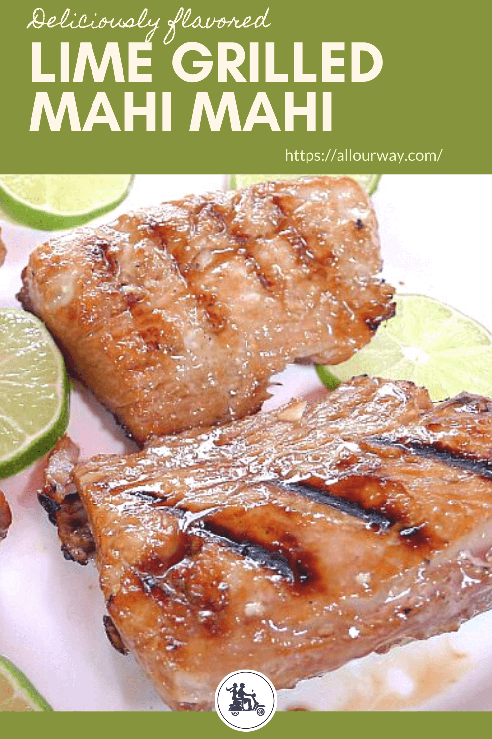 Grilled Lime Marinated Mahi Mahi is mouthwateringly delicious. The fish fillets are first marinated in a tasty lime, soy, ginger marinade and then cook on a very hot grill. The sauce gives a tasty flavor to the fish and keeps it moist. You can also use the marinade on other firm flesh fish.