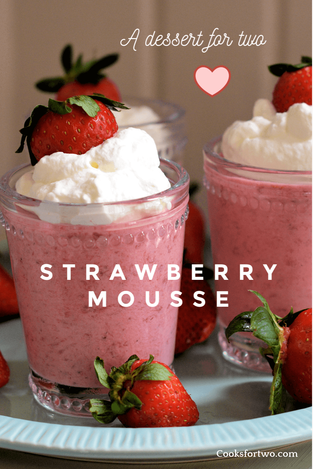 A light no-bake dessert that is fresh and creamy with a strong strawberry flavor. The strawberry juice is reduced to give it that concentrated berry flavor. This is a no-egg mousse that you can make ahead without fear of having it get runny. A delicious treat any time of year.