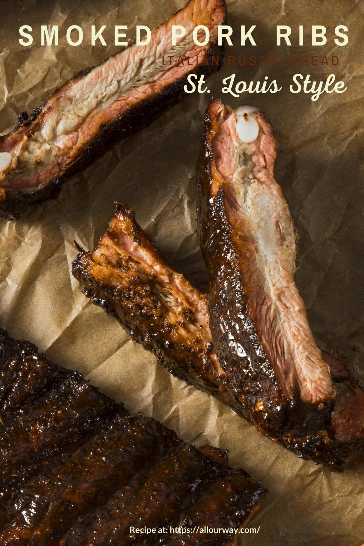 """Délicieuses et tendres côtes de porc frottées à sec qui sont fumées à la perfection. La viande est juteuse avec un goût fumé épicé. Mangez-les tels quels ou badigeonnez-les avec votre sauce préférée. La viande a si bon goût qu'elle n'a vraiment besoin de rien d'autre. """"Data-pin-description ="""" De délicieuses côtes tendres de porc frottées et fumées à la perfection. La viande est juteuse avec un goût fumé épicé. Mangez-les tels quels ou badigeonnez-les avec votre sauce préférée. La viande a si bon goût qu'elle n'a vraiment besoin de rien d'autre. """"Data-pin-url ="""" https://allourway.com/smoked-pork-ribs/ """"src ="""" https://allourway.com/wp- content / uploads / 2020/05 / Smoked-Pork-Ribs-Pin.png """"/><noscript><img class="""