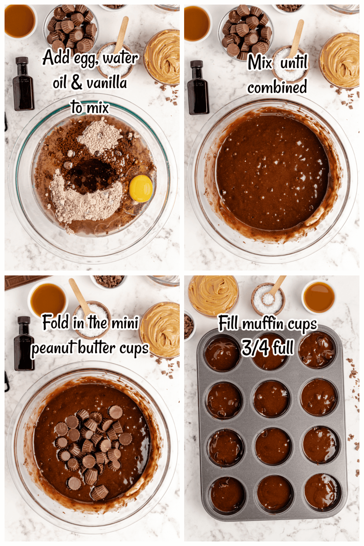 1st set of instructions for making the Brownie Peanut Butter Bites.