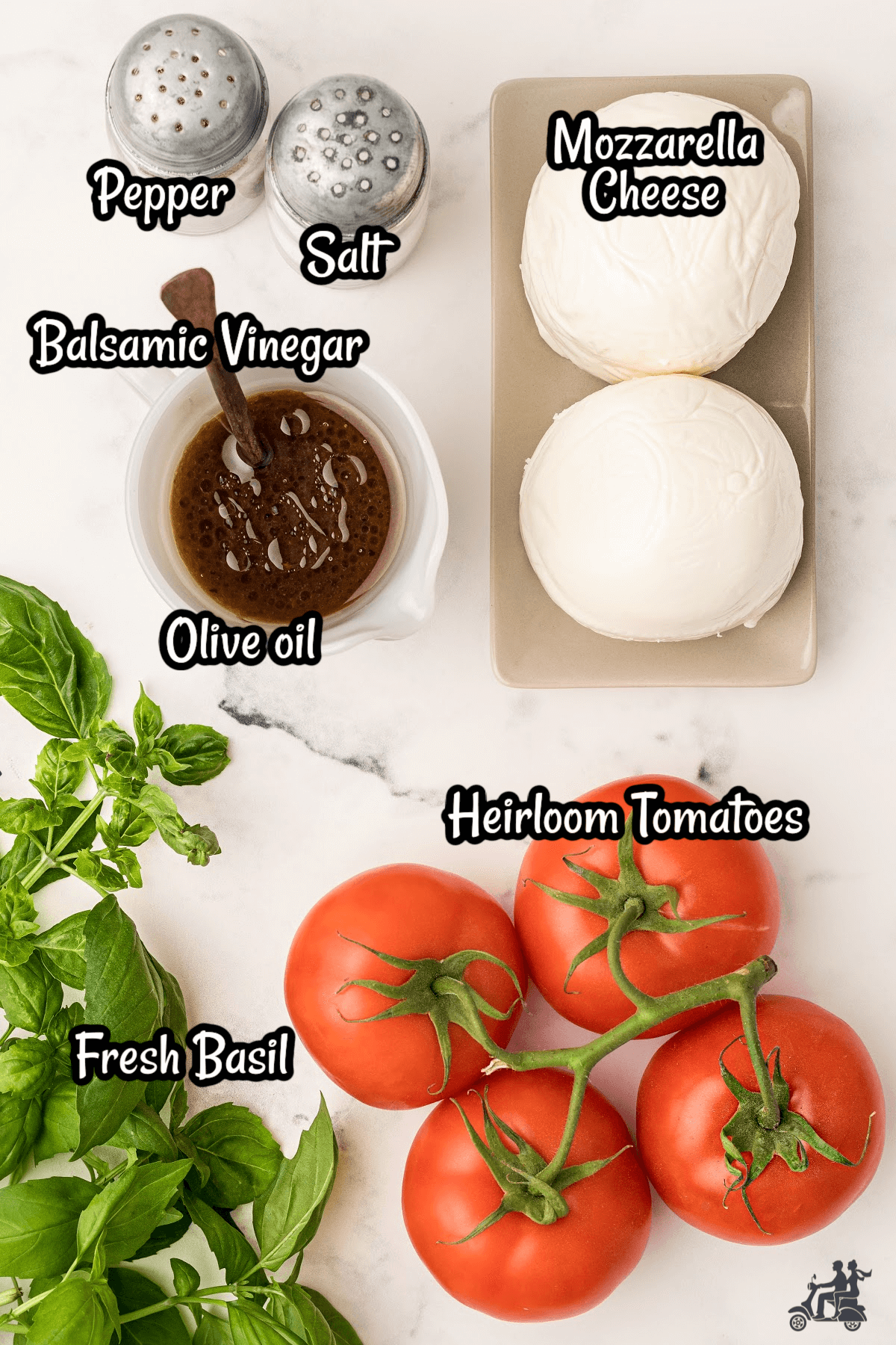 Ingredients listed for the Capri Salad.
