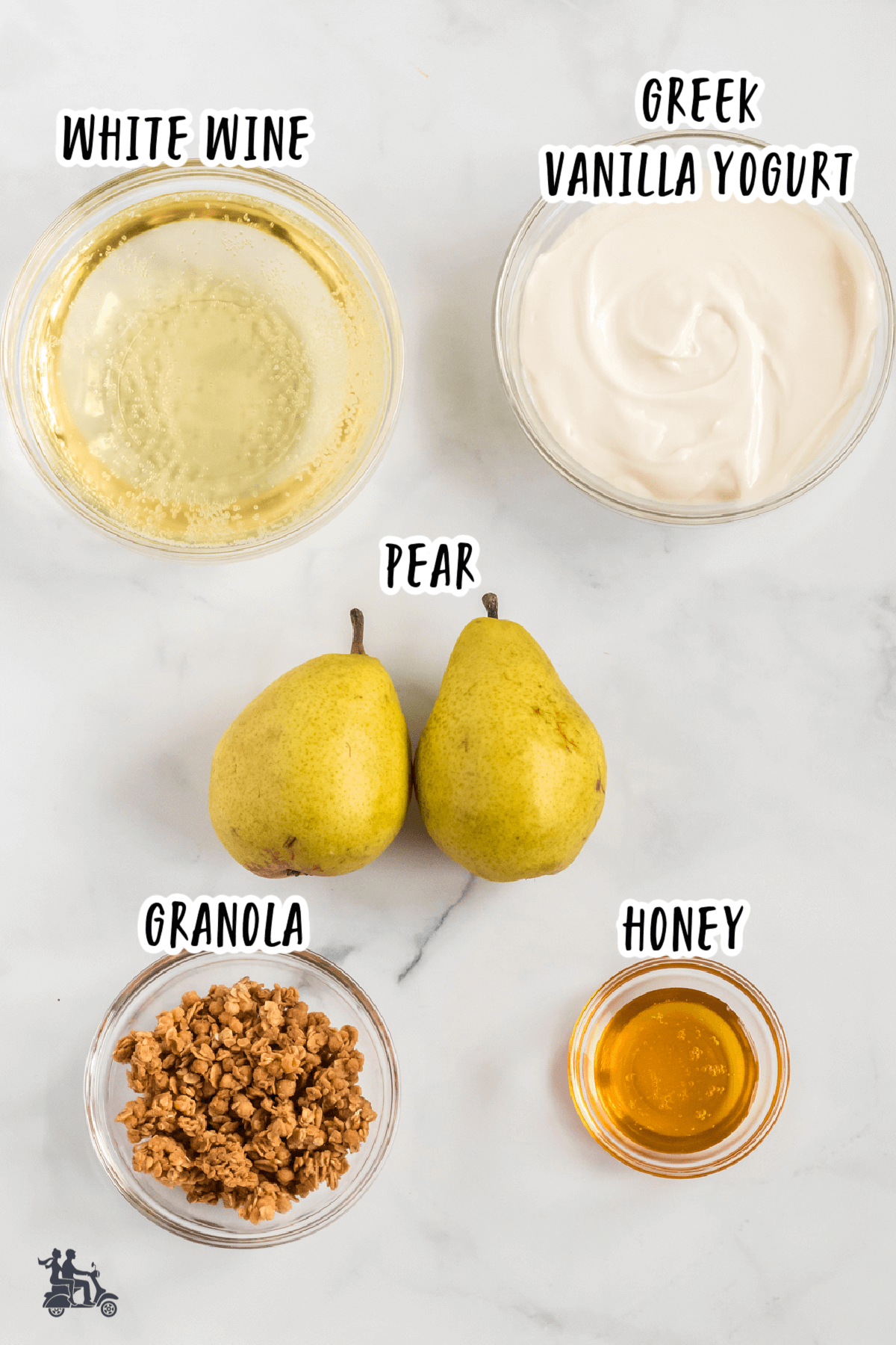 Ingredient photo of the Poached Pear in White Wine recipe
