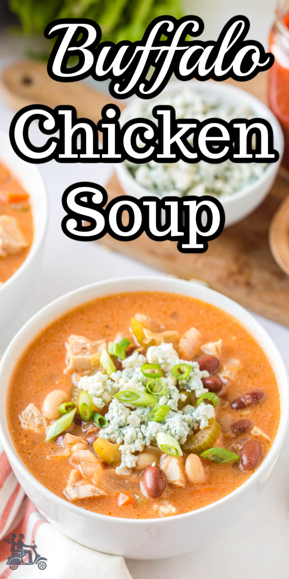 This hearty soup combines the classic buffalo chicken flavors. It's tangy, savory, and sure to please the hot wing lover. The soup is bisque like with a delicious creamy texture and spicy enough to please the hot sauce fan but mild enough for the whole family.